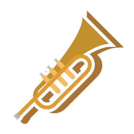 trompeta Ilustración de vector
