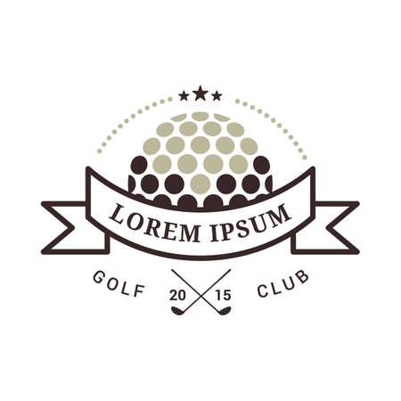 emblem of golf tournament Banque d'images - 106671292