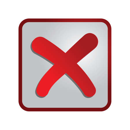 A cancel button illustration.