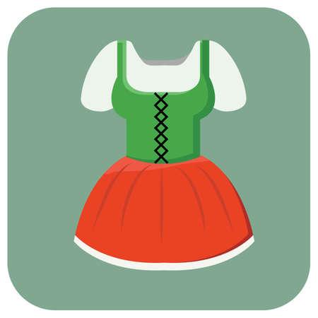ギャザー スカート  イラスト・ベクター素材