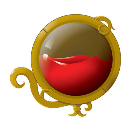 glass ball with liquid
