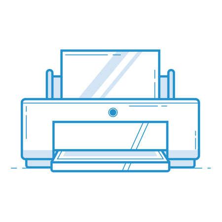 drukarka Ilustracje wektorowe