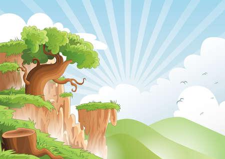 Scenic landscape Çizim