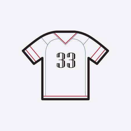 jersey t-shirt Stock Illustratie