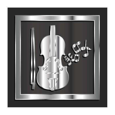 viool en strijkstok Vector Illustratie