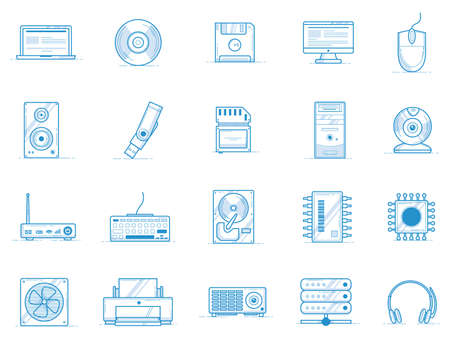 computer devices icon set Illustration