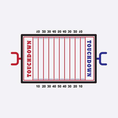 Terrain de football américain Banque d'images - 81419238