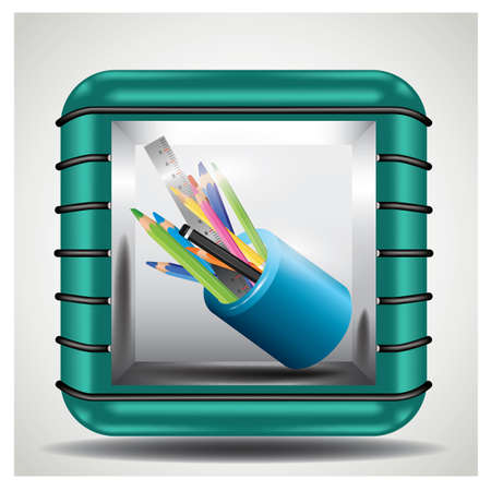 pencils and pens in holder