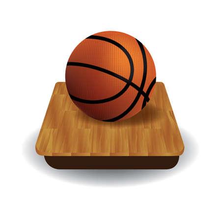 Une illustration de basketball. Banque d'images - 81485881