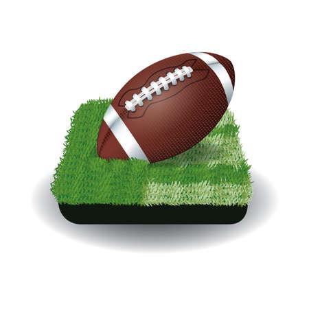 American football ball illustration. Illustration