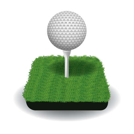 A golf ball on a tee illustration.