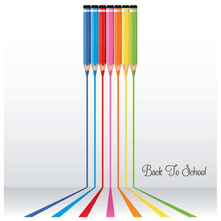 色鉛筆でカラフルな線  イラスト・ベクター素材