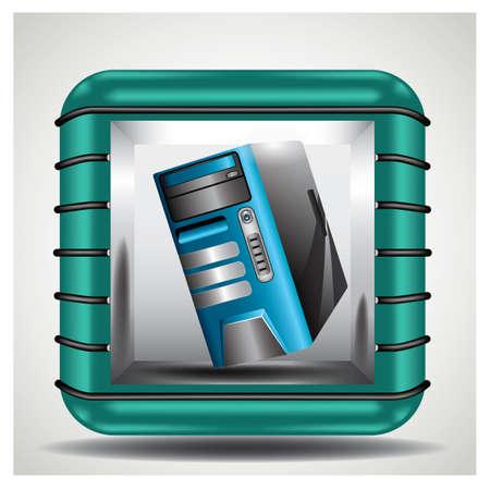 computer desktop Illustration