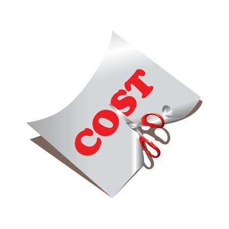 Reducción de costo Foto de archivo - 81469764