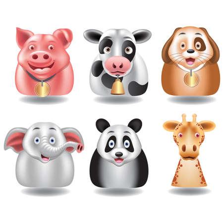 Set van dieren Stock Illustratie