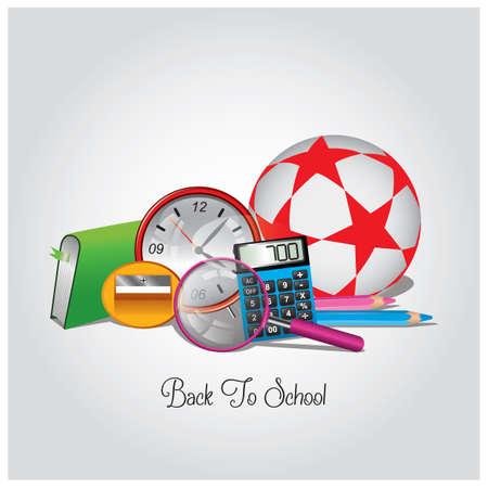 educatieve items Stock Illustratie