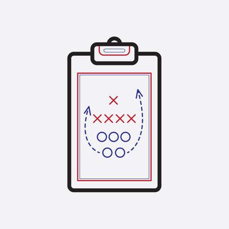 game plan on clipboard Illusztráció