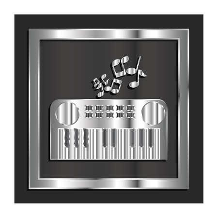 musical keyboard Illusztráció