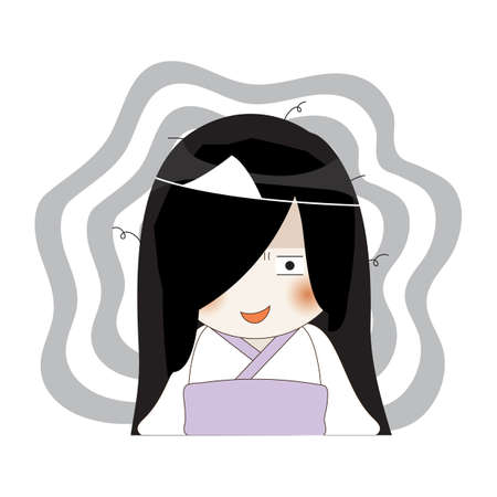 shy ghost Ilustrace