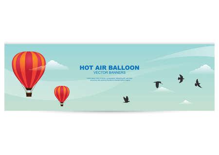 Banner de globo de aire caliente Foto de archivo - 81419275