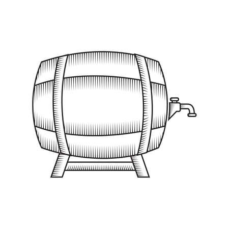 Een biervatillustratie.