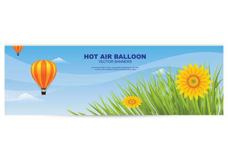 Banner de globo de aire caliente Foto de archivo - 81419297