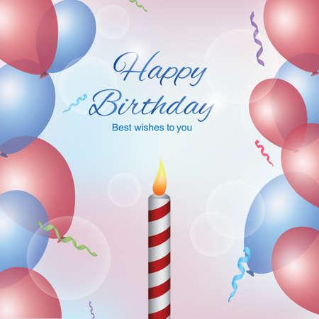 Alles Gute zum Geburtstagskarte Standard-Bild - 81538308