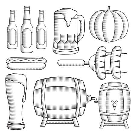 Oktoberfest icons collection.
