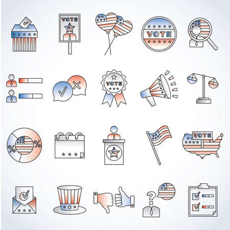 Set of election icons