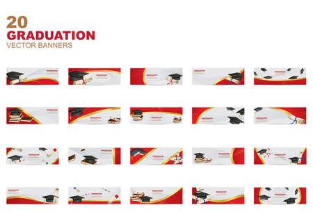 collection of graduation banners Banco de Imagens - 81538311