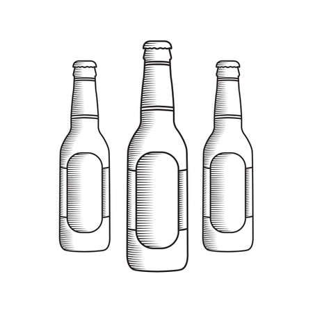 A beer bottle illustration. Illustration