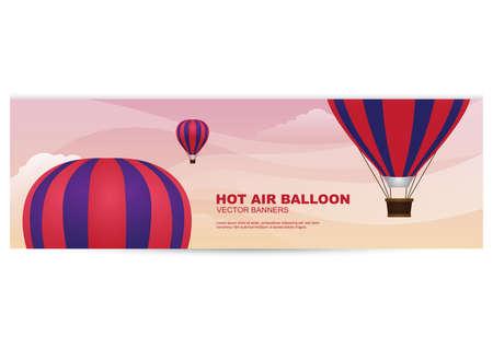 Banner de globo de aire caliente Foto de archivo - 81419305