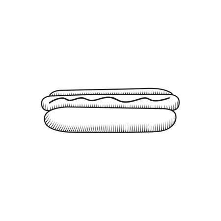 Une illustration de hot dog. Banque d'images - 81419523
