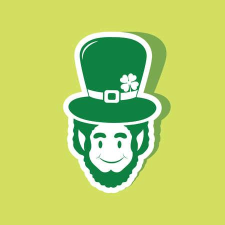 leprechaun head with cap