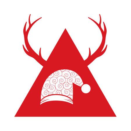 サンタの帽子  イラスト・ベクター素材