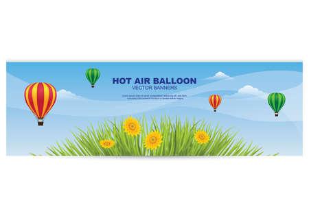 Heißluftballon-Banner Standard-Bild - 81419306