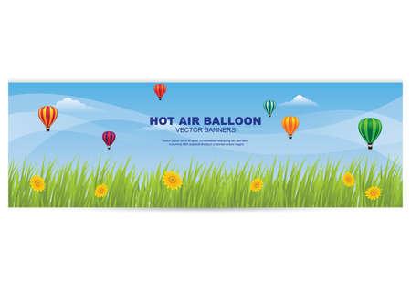 Heißluftballon Banner Standard-Bild - 81419318