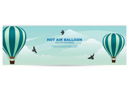 Banner de globo de aire caliente Foto de archivo - 81419319