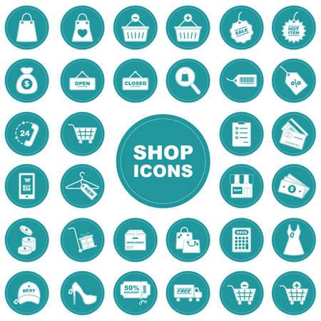 Set of shopping icons Иллюстрация