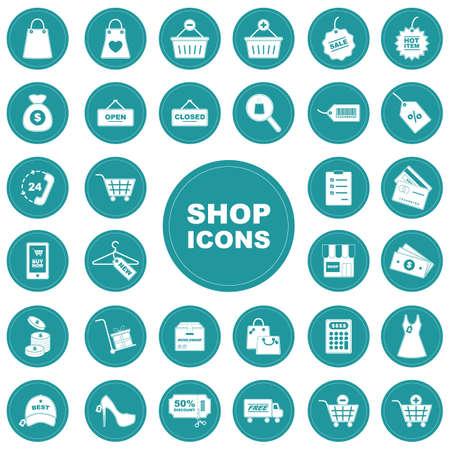 Set of shopping icons Illustration