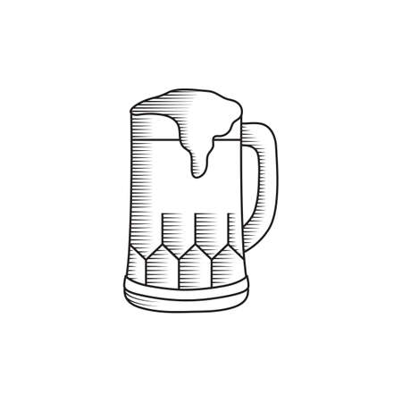 A beer illustration. Illustration
