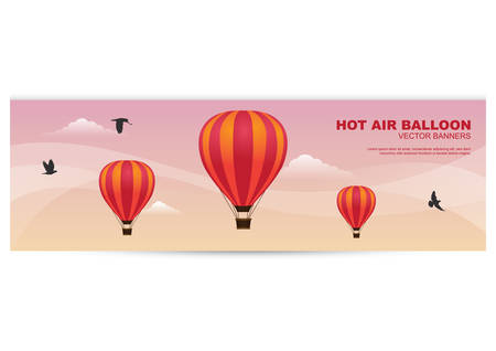hot air balloon banner Stock Vector - 81419331