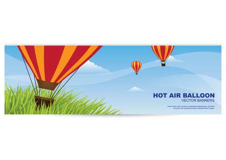 Heißluftballon-Banner Standard-Bild - 81419333