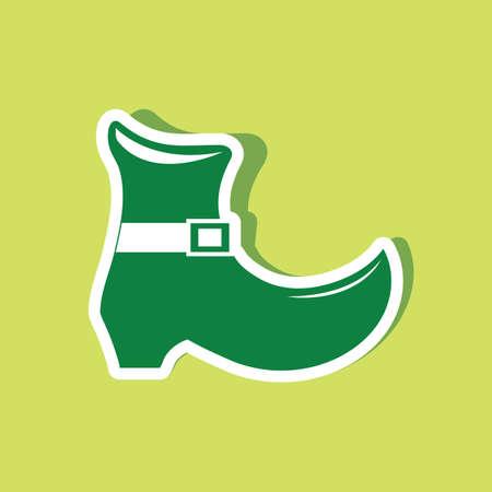 leprechaun boot Ilustracja