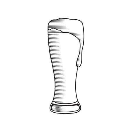A beer illustration. 向量圖像