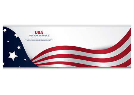 미국 국기 배너