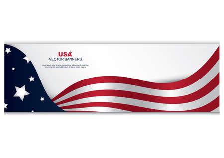 Fahne der amerikanischen Flagge Vektorgrafik