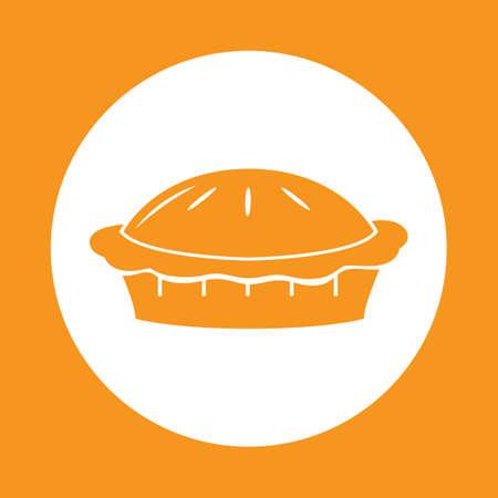 pumpkin pie Illustration