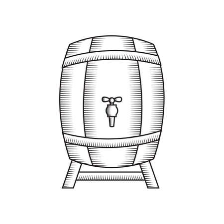 A beer barrel illustration. 版權商用圖片 - 81419717