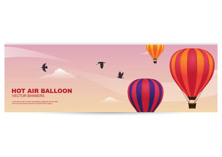 Banner de globo de aire caliente Foto de archivo - 81419346